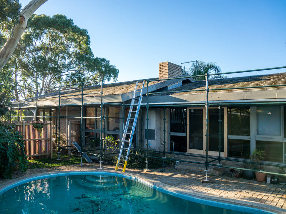 A leaking roof that needs replacement in Melbourne