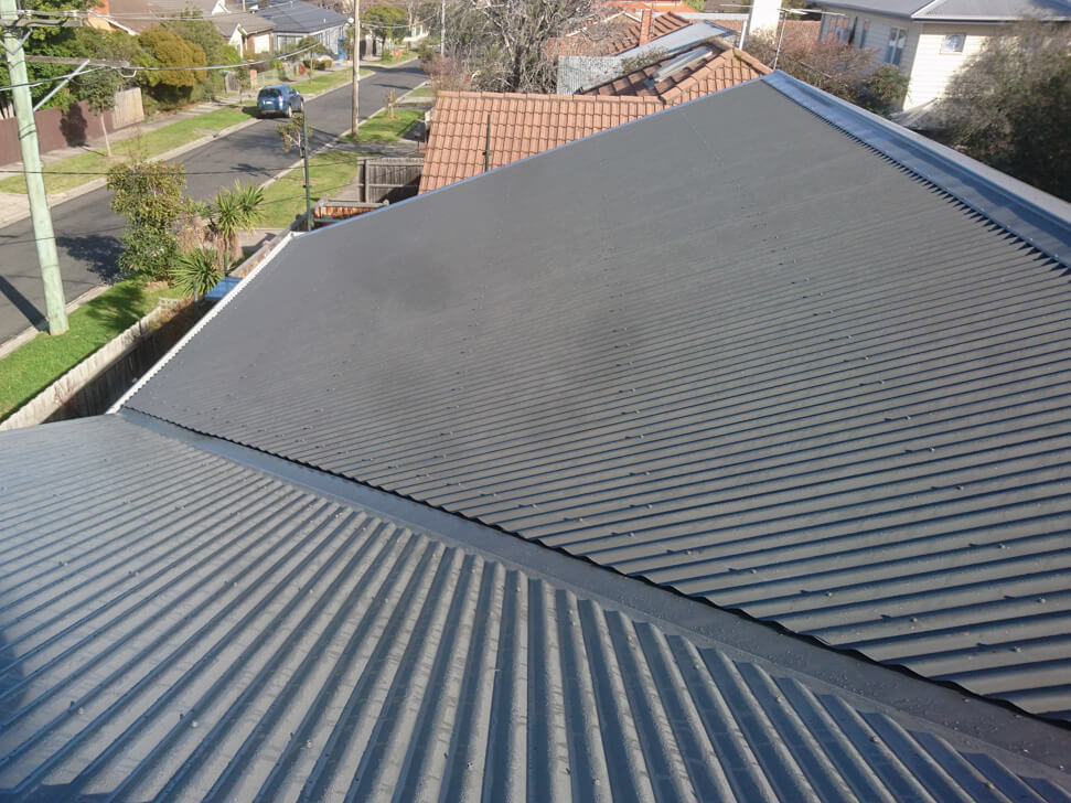 Back left section of new roof