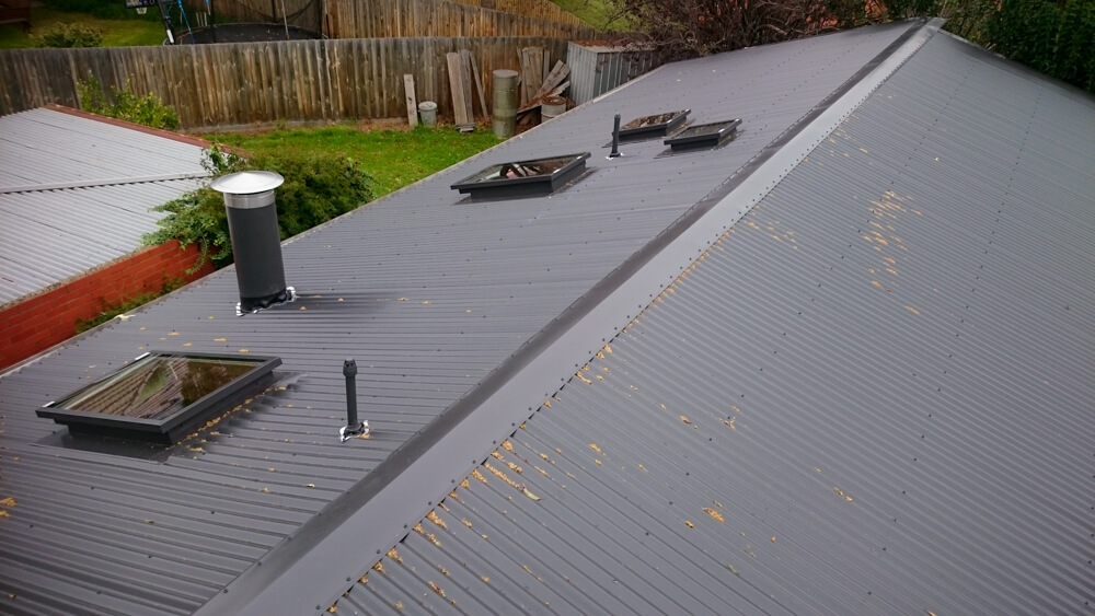 Colorbond Roof Replacement with skylights