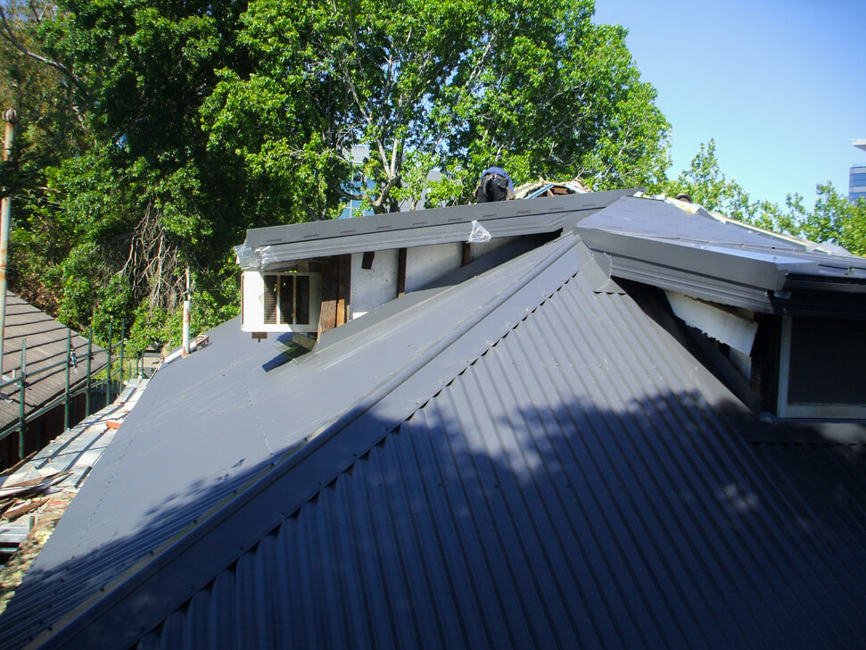 Dormer roofs under construction