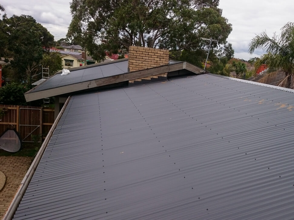 How a metal new roof looks