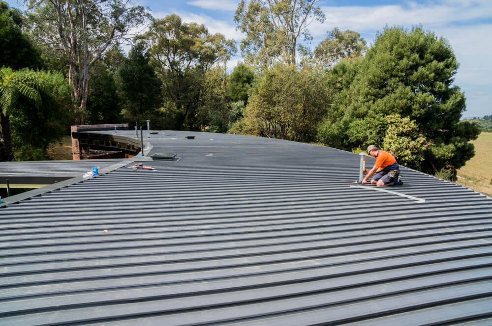 New Colorbond Flat Metal Roofing