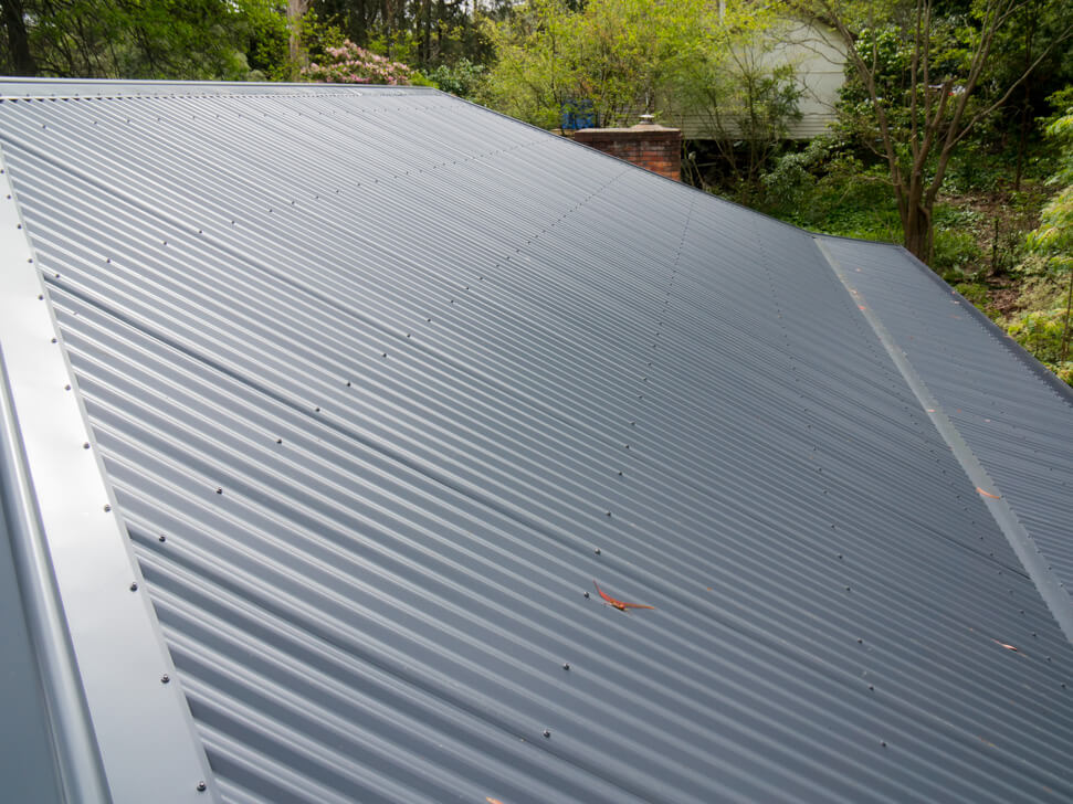 New Colorbond roof conversion with gutter guard