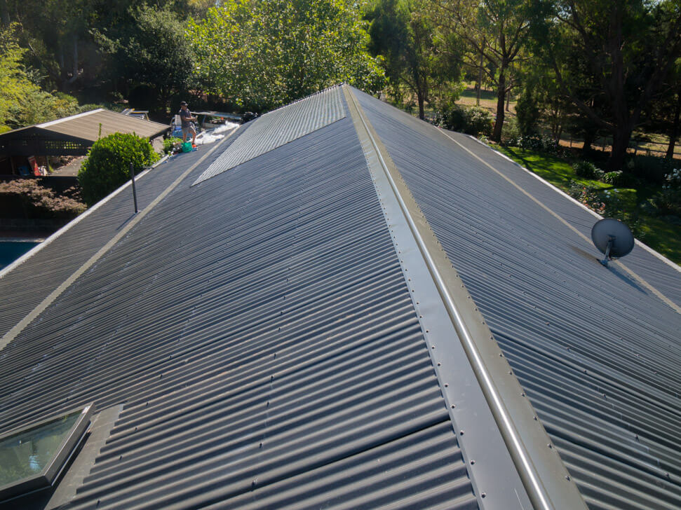 New colorbond roof ridge after conversion