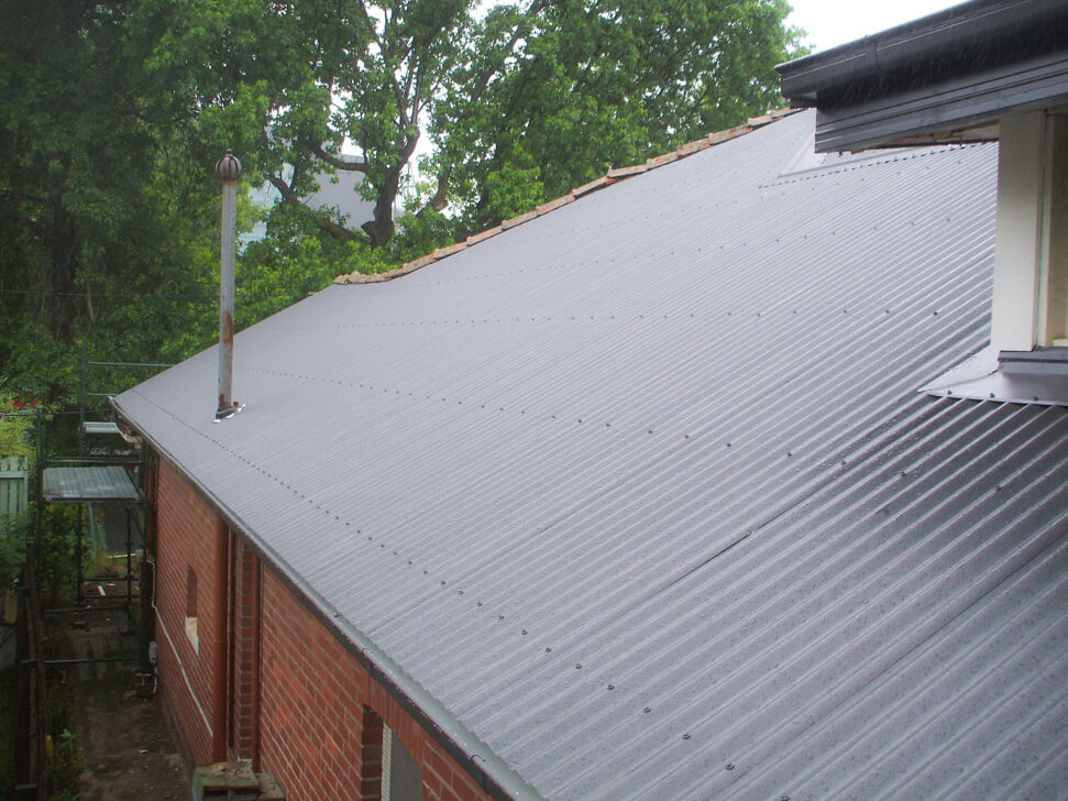 New section of Colorbond Roof Install