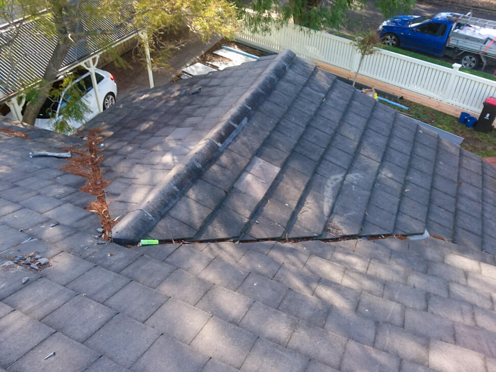 Old tile roof needing replacement