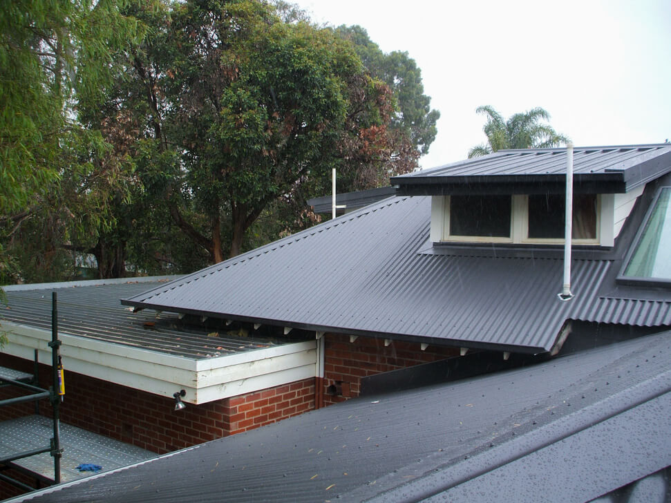 Updated dormers roofs with new Colorbond flashing