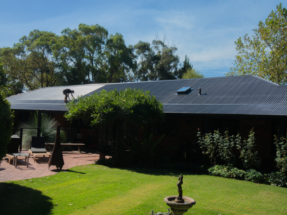 What a new colorbond roof looks like